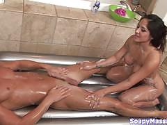 Stunning brunette jenaveve jolie drips water all down her hot body
