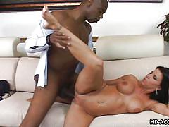Horny mature is crazy about huge black cock