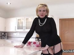 Cheating british milf lady sonia presents her monster titties