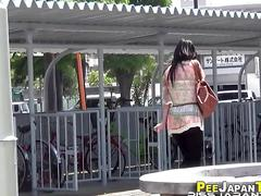 Bizarre hot asian peeing