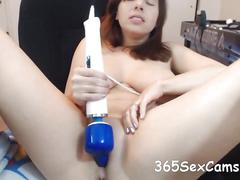 amateur, masturbation, webcam, big tits, brunette