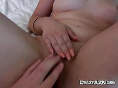 Wild asian gf gets licked and fingered by bf