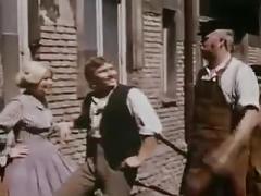 hardcore, vintage, threesome, austrian, classic, retro, brunette, groupsex