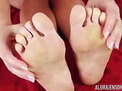 alura jenson, feet, blonde, solo, toes, fetish, talking, foot