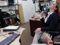 Foxy business lady gets fucked! - xxx pawn