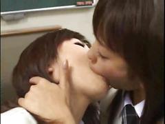Japanese deep tongue kissing
