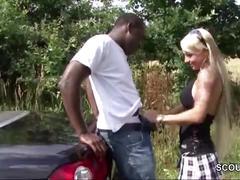 German teen outdoor fuck with black big dick boy