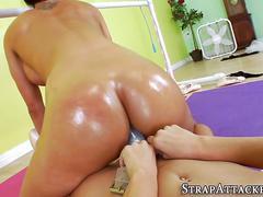 Ballerina strapon fucked anal