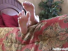 Lingerie clad babes teasing with feet in foot worship compilation