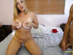 Big ass blonde anal and titty fuck
