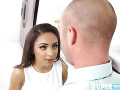 Super small and brunette nicole bexley gets fucked by stepdad