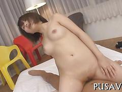 Japanese chick loves big dick segment