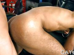 Muscle black gay fucked blowjob clip 2