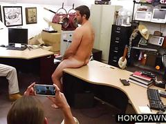 Two hunk amateur dude tricked this hairy dude who sucked their cock and nailed him in the ass