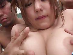 Taking several cocks in each of her holes
