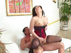 Lingerie clad london keyes fucked hard