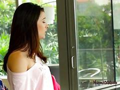 Pretty teen lacy blows her hung roommate