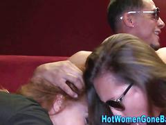 Cfnm party ho sucking bbc