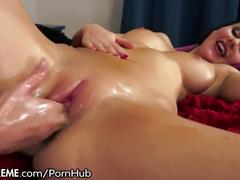 21sextreme eager lesbian rides fist