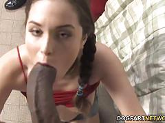 Sensual charlotte vale gobbles down this huge cock
