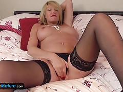 blonde, masturbation, stockings, toys, solo, european, piercing, chubby, bbw, mature, compilation, bigtits, granny, old