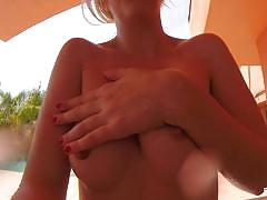 Swimming with masturbation for blonde cutie samantha
