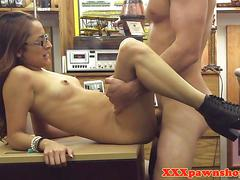 Spex babe lifted and fucked by pawn broker