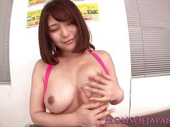 Asian milf clit stimulated with vibrator