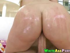 Bubble butt babe aj applegate analyzed by throbbing cock