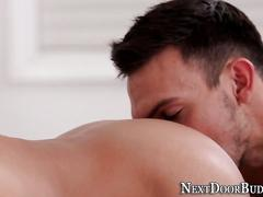 Buff jock cum drenched anal