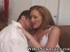 big tits, milf, red head, for women, wifesnewlover, redhead, mom, mother, female-friendly, wife, housewife, swinger, lover, swapping, tattoo, foreplay, kissing, interview, blowjob