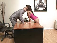 Beautiful babe reena sky fucks a prospective employer
