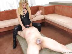 Mean latina mistress turns hubby into cuck