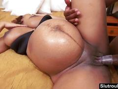 Ebony babe kami mark preggo sex with bbc