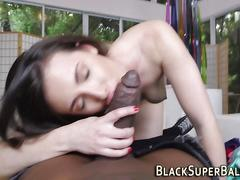 Babe pov sucks black dick