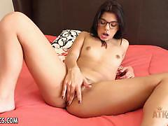 Luscious gina valentina plays with her hot pussy