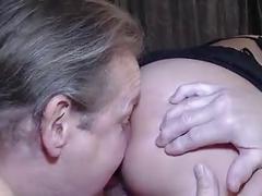 Pregnant brunette gangbanged