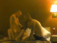 Homemade amateur wife thagteamed in a hotel 3way with our friend part 1