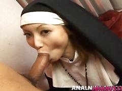 Rika nun has cunt licked and fucked