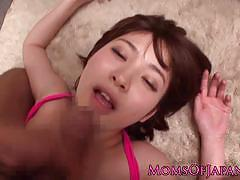Asian milf gets her pussy nailed
