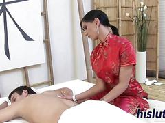 Innocent massage turns into rough anal pounding