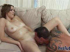 Tattooed slut with big naturals gets slammed