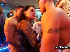 Spicy cuties get totally foolish and nude at hardcore party