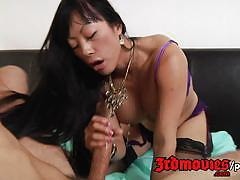 Cock craving asian milf gaia is at it again.