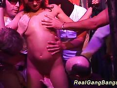 Amateurs first swinger club orgy