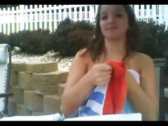 Aryaculver 12 bikini outdoors
