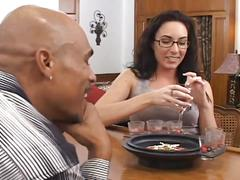 Muscular black fucks white woman