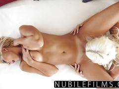 Nubilefilms - college blonde lovers exchange intense orgasms