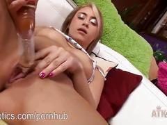 Marina angel masturbating using her golden toy