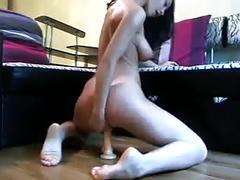 brunettes, dildo, masturbation